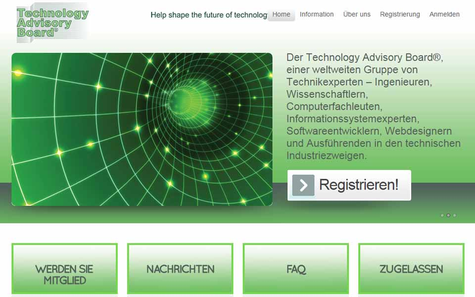 Technology Advisory Board - Internet Interviews und Fachumfragen
