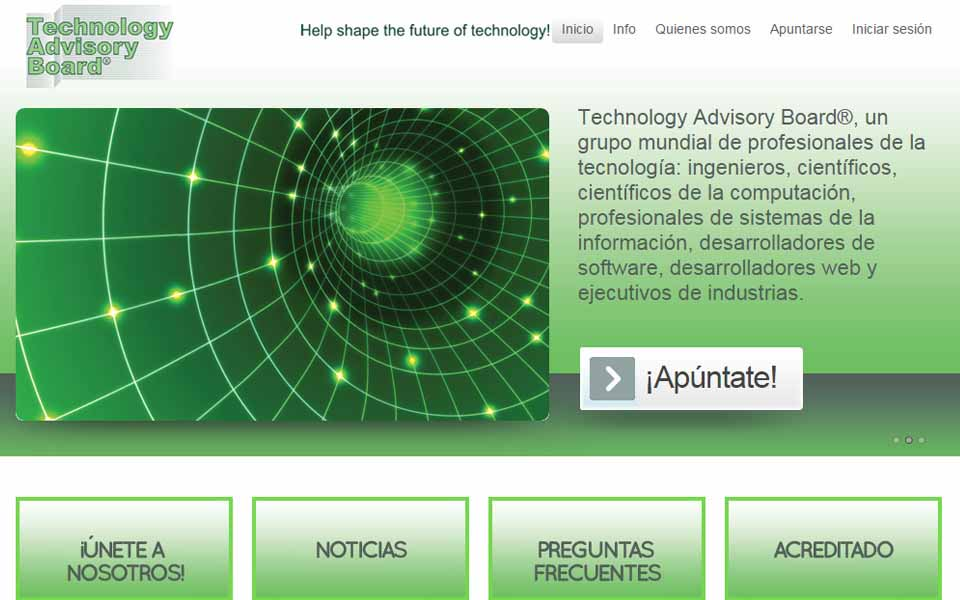 Technology Advisory Board – entrevistas de Internet y encuestas especializadas